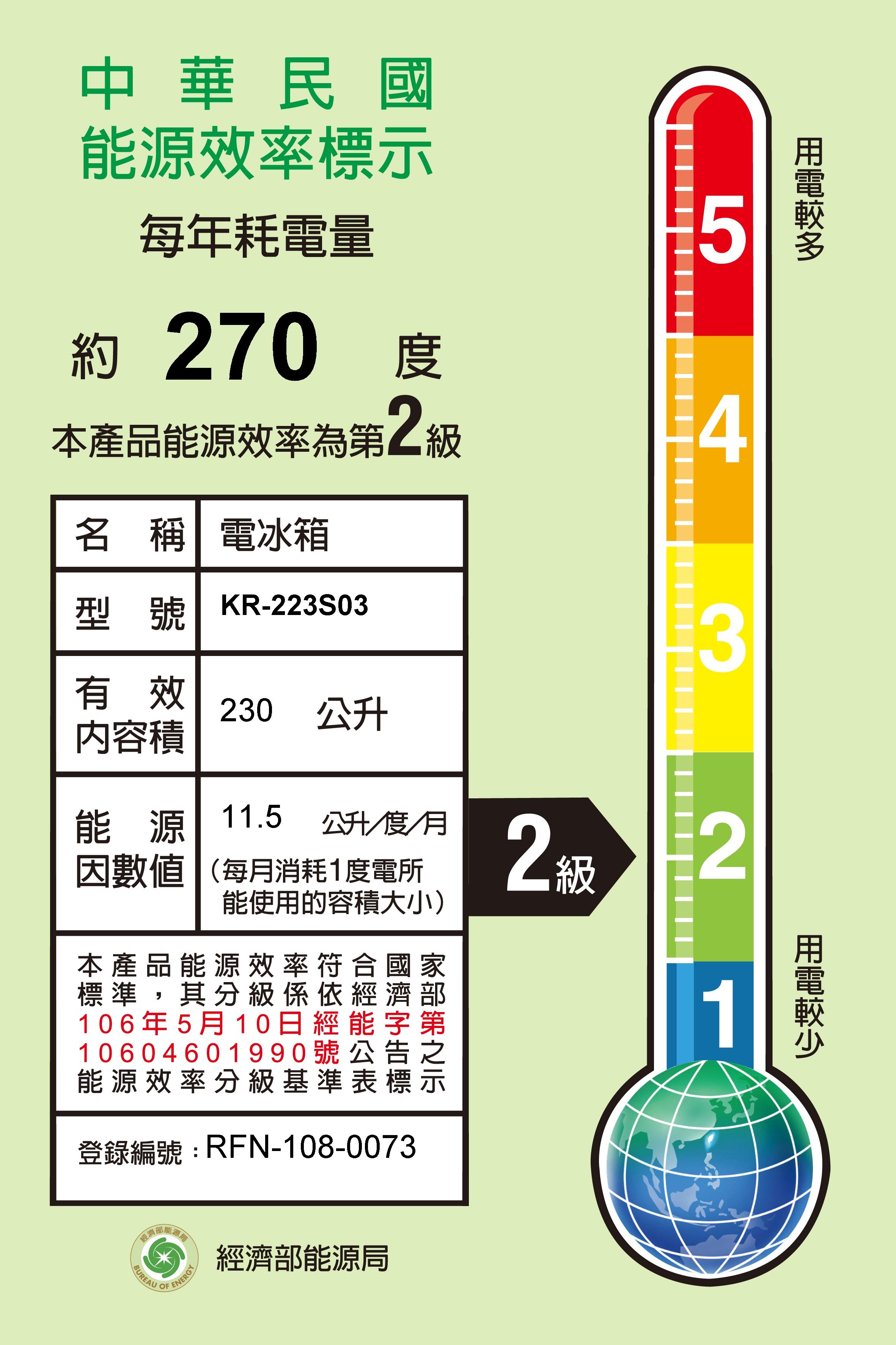 歌林雙門230L冰箱_商品圖_2